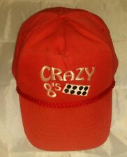 Crazy 8's Red Baseball Dice Hat Cap