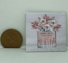 HANDMADE MINIATURE DOLLS HOUSE ACCESSORY CANVAS STYLE  PICTURE PERFUME BOTTLE