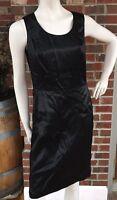 Brooks Brothers Womens Sz 8 Black Silk Sleeveless Sheath Zipper Lined Dress EUC