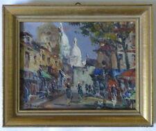 Julian BROSIUS Huile sur panneau Montmartre Paris Tableau signé