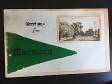 Greetings from Marmora Ontario Canada Forsyth Street View Vintage Postcard D17