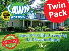 500gm Twin Pack Lawn Pro Elite RTF Creeping Tall Fescue Premium Lawn Seed Blend