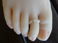 925 Sterling Silver (plated)Toe Ring, size adjustable,Buy 2, Get the 3rd Free.