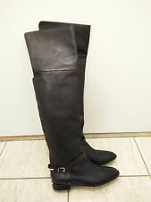 BURBERRY Carmack Leather Over The Knee OTK Boot Leather Flat Riding Boots 38.5