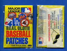 1972 FLEER REAL CLOTH BASEBALL PATCHES STICKERS PACK