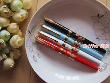 "1 pc LANBITOU Elegant""Blossom Flowers"" Metal fountain pen,Fine nib,108"