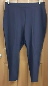Chico's Navy Blue Pull-On Stretch Pants Activewear Misses Size 3R