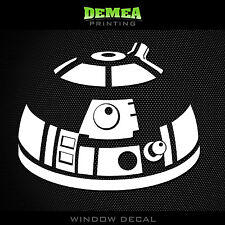 "R2D2_2 STAR WARS - Window Car Decal/Sticker - 5"""