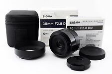 """SIGMA 30mm F/2.8 DN Black for Sony E-mount """"Excellent"""" #37"""