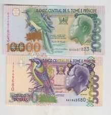 More details for two saint thomas & prince  p65c 1996 & p66c 2004 notes in mint condition