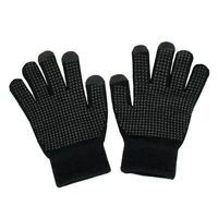 Fosmon Universal Touchscreen Unisex Gloves with 3 Conductive Finger Tips - Black