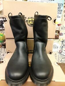 DR MARTENS PULL ON BOOT BLACK  FLEECE LINED SIZE 8
