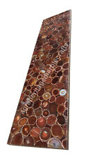 4'x2' Conference Two Table Top Red Onyx Bar Top Inlay Kitchen Slab Chirtsmas