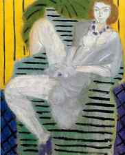Henri Matisse Woman On A Sofa, Yellow And Blue Background A4 Photo Print