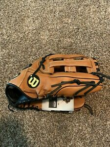 Wilson A900 Slow Pitch Softball Glove Brown w/Black Trim 14""