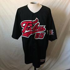 Vintage Fubu 05 Baseball Jersey Xl X-Large Black Vtg Authentic Sports