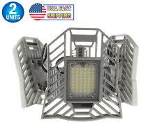 3 Tri Leaf Led Ceiling Garage Bright Light Adjustable Panel 7200 Lumen Trilight