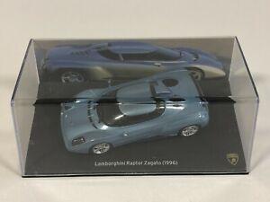 PRESSE ALTAYA IXO Lamborghini Raptor Zagato Bleu 1996 1/43 Voiture Miniature