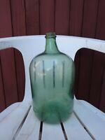 tres ancien   bocal  verre  vert 5litre s déco ,collection  dame/jeanne