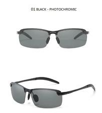 Photochromic Sunglasses Men Polarized Driving Chameleon Glasses Male Change