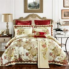 Jacquard Bedding Set King Queen Size Embroidery Duvet Cover Bedsheet Pillowcases