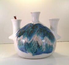 Kravec Studios Art Pottery 3 taper Oil Lamp Vase Mid Century Modern