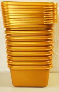 9 Ziploc Medium Square 1.25 Qt GOLD Containers Limited Edition Winter NEW NO BOX
