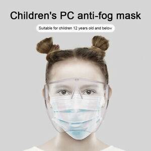 Upgrade!! Child Face Protective Facial Cover Transparent Glasses Visor Anti-Fog