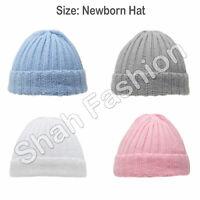 Newborn Baby Hat Boys Girls Unisex Hat Ribbed Knitted Winter Beanie Hat H700