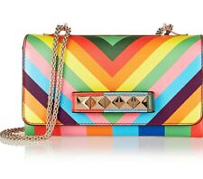 VALENTINO Va Va Voom Multi-colored Printed Leather Shoulder Bag New +Tags & Box