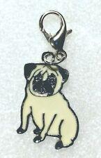 Pug Dog Pup Fawn Bag Purse Charm Dangle Zipper Pull Jewelry