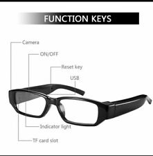 VIDEO CAMERA GLASSES WITH INVISIBLE LENS FULL HD 1080p VIDEO SOUND DVR RECORDER