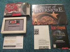Secret of Evermore (Super Nintendo SNES) Complete CIB w/ Poster