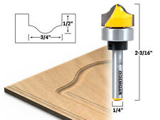 """3/4"""" Faux Panel Ogee Groove Template Router Bit - 1/4"""" Shank - Yonico 14978q"""