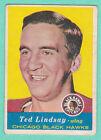 1957-58 TOPPS #21 TED LINDSAY (BLACK HAWKS)