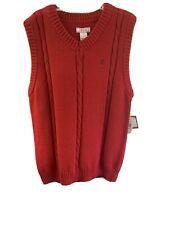 Boys Med Red Izod Sweater Vest