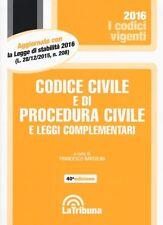Codice Civile e di Procedura Civile e Leggi Complementari Bartolini Tribuna 2016