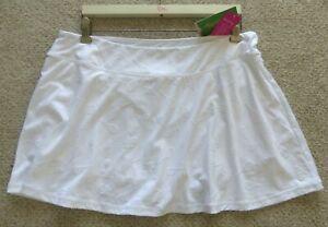 LILLY PULITZER UPF 50+ Aila Skort WHITE PERFECT MATCH JACQUARD Extra Large NWT