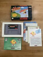 Super Nintendo SNES Video Game Pac Man 2 The New Adventures w/ Box and Manual