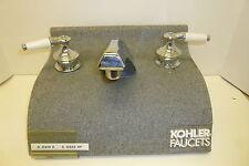 KOHLER K-15850-4P CHROME WITH PORCELAIN HANDLES NEW