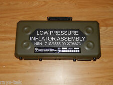 Ex RAF Aluminium Carry Storage Case for Low Pressure Inflator Assembly [4PLC3]