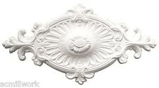 Ceiling Medallion Oval 24 x12 Inch White canopy dome for Light fixture D594 big
