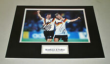 Matthaus & Voller Signed Photo 16x12 Germany Autograph Memorabilia Display + COA