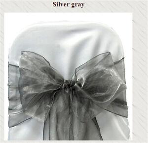 150 Pc Organza Chair Cover Sash Bows sashes Wedding Banquet Party Reception