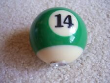 GREEN AND WHITE STRIPED POOL BALL #14 BEER TAP HANDLE