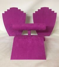 Jewellery Display Starter Set (Fuchsia Pink) Bracelet Necklace *Made in the UK*