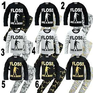 Fortnite Pyjamas Boys Set Long Sleeves/ bottoms Cotton Floss Like A Boss