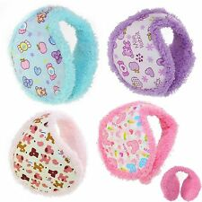 Ear Muffs Earmuffs Warmer Fluffy Fleece Toddler Girls Kids childrens Winter Gift