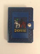 AGENDA VERA PELLE SICILIA MADE IN ITALY PS10 LEATHER ORGANIZER BLU