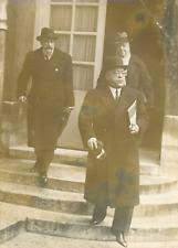 MM. Lebeau, Raoul Aubaud et Albert Sarraut Vintage silver print Tirage argenti
